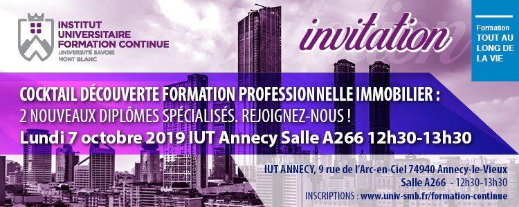 Invitation Cocktail découverte Formation Continue IUFC USMB