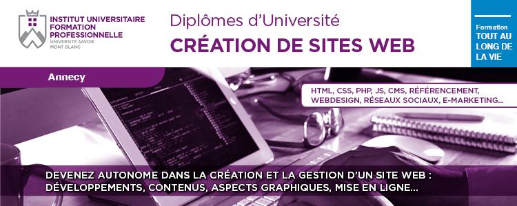 Formation professionnelle Création de site web IUFC Université Savoie Mont Blanc