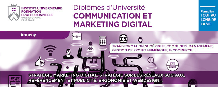 Formation Professionnelle Marketing digital Communication Digitale Annecy IUFC