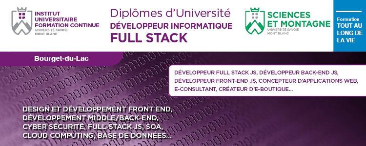 Visuel Diplôme Universitaire développeur informatique Full Stack Annecy
