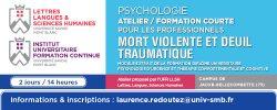 Visuel web formation professionnelle continue psychologie Mort violente et deuil traumatique