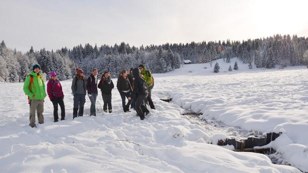 Atelier terrain tourbière Creusates avec les étudiants de master 2 EPGM
