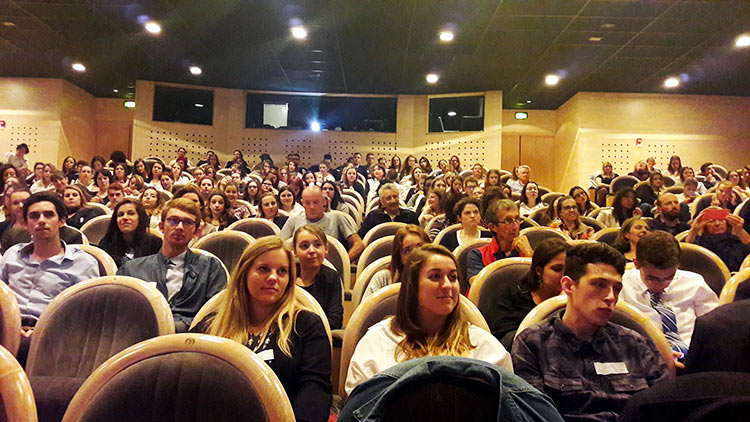 Etudiants lors de la conférence de rentrée de l'USMB et de Savoie Mont Blanc Tourisme