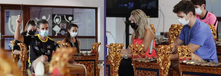 atelier gamelan etudiants masque